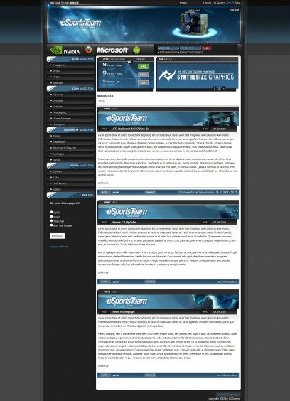 webSPELL 4.2 Template Blue xHTML/CSS *NEW VERSION*