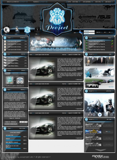 PROJECT X DZCP TEMPLATE