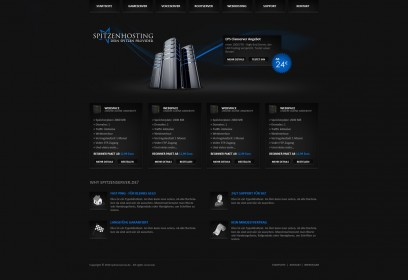 Black Spitzenhosting Design ohne Kundenlogin