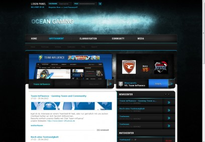 Ocean Gaming - webSPELL Template