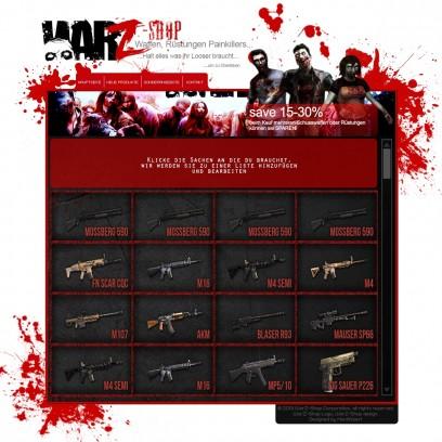 Zombie Survival Shop community Page