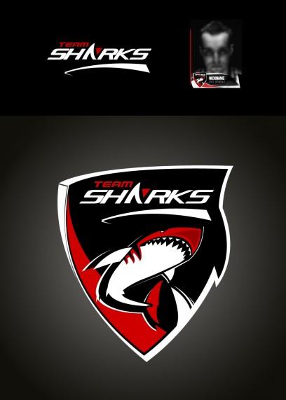 Team SHARK Logo - Rot / Red