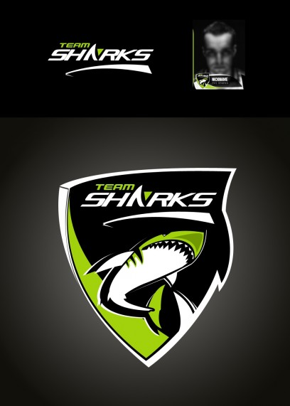 Team SHARK Logo - Grün / Green