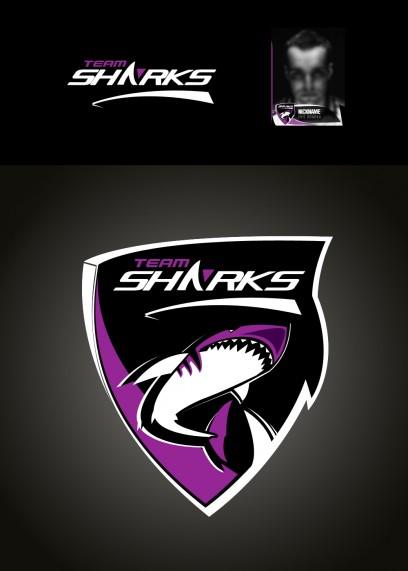 Team SHARK Logo - Violett / violet