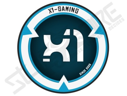 X1-GAMING blue/white Clanlogo