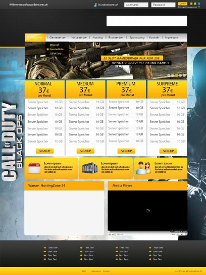 Hosting Template (3 Colors)