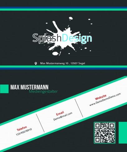 Splash Visitenkarte