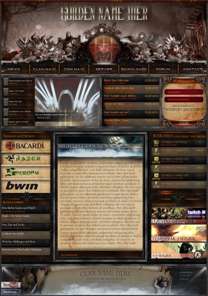 Diablo III multigaming clan/guild Design