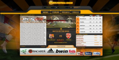 Football Online League Template