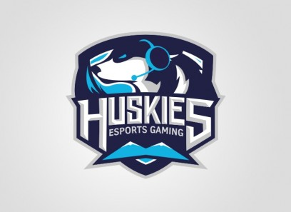 Huskies Clan Logo(Vektor)/Spielerrahmen/T-Shirt