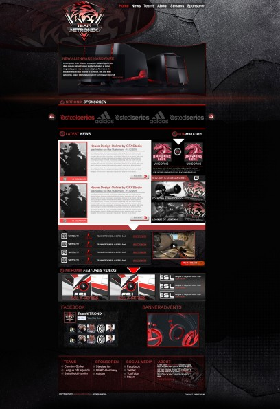 Black Red Gaming Design