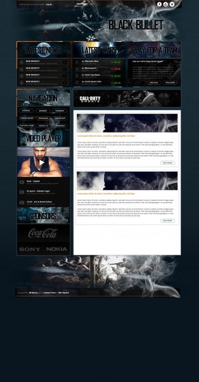 Blackbullet Webspell Template