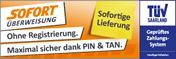 Wir akzeptieren Zahlungen via Sofortüberweisung.de