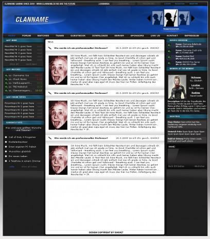 Blaues professionelles Clandesign