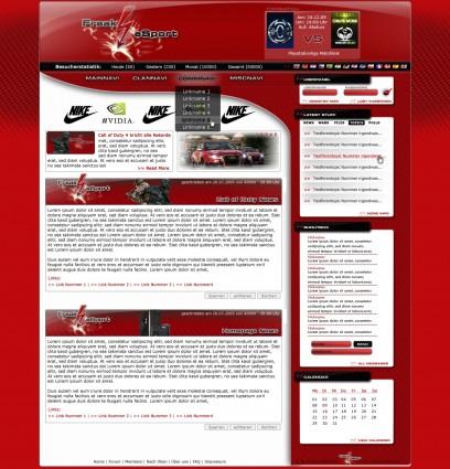 eSport Clandesign Rot-Schwarz-Weiß