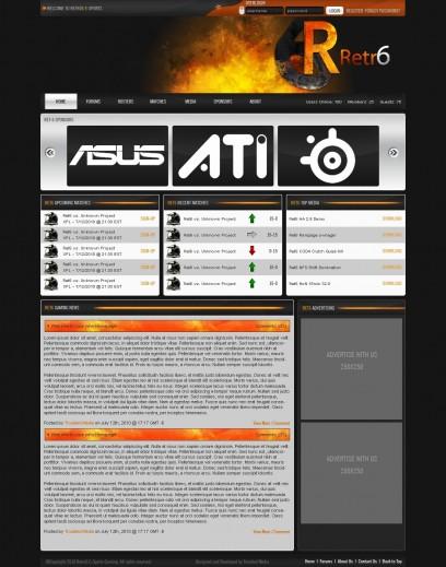 Retro 6 Gaming Template