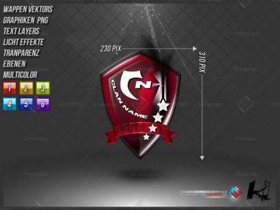 Premium 2D Clan Logo 9