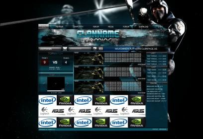 GamingClanDesign in Blau/Transparent