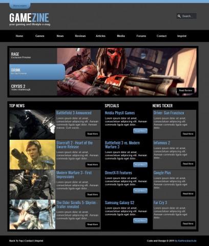 GameZine HTML5 CSS3 Template