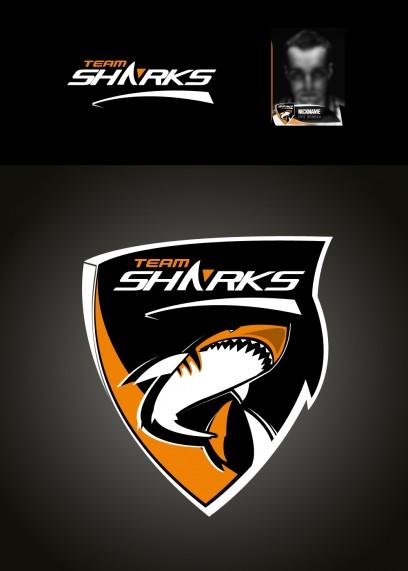 Team SHARK Logo - Orange