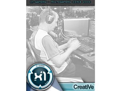 X1-GAMING blue/white Playersheet