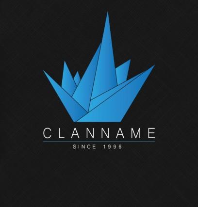 Kristall Logo blau
